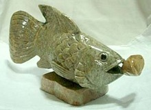 Marble fish sculpture
