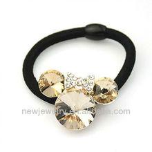 B008 Korean hair jewelry crystal baby elastic hair bands