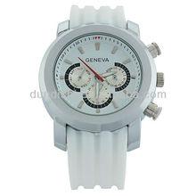 Dress Styles Silicone Quartz Sports Silicone Watches Fashion Style Men's Wristwatch Three Circles Guangzhou Factory