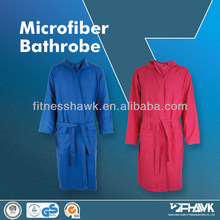 HOODED MICROFIBER BATHROBE