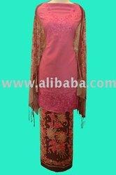 Kebaya Merah Muda 1 Warna/Kebaya Pink 1 Color