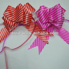 Colorful Gift Ribbon Pull Bow With Stripes