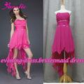 amostra real qualidade strapless frisada e pregas dress dama 2013