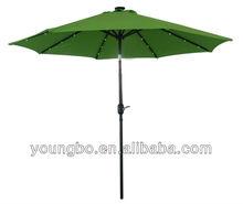 Solar LED Aluminum waterproof Patio Umbrella