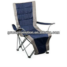 Portable Lounger Fully-reclining Folding Lounger W/ Leg Support