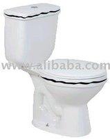 Contemporary dual-flush toilet