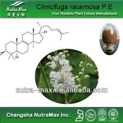 100% Competitive price Cimicifuga racemosa P.E & Triterpene Glycosides 2.5%,8%