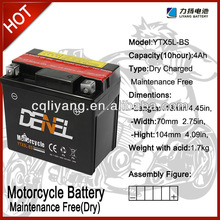 high performance motorcycle battery 12v 4ah /lead acid dry charged battery