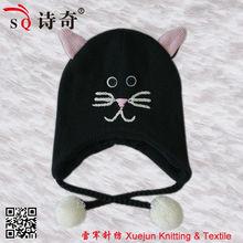2013 TONGLU cute knitted winter animal CAT pattern earflap hat