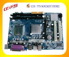 2013 HOT selling G31 ATOM ATX motherboard LGA 775 motherboard