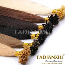 charming color nail hair top quailty fashion u-tip hair #613 blonde hair color
