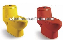 pink/ green/ black / yellow/red /blue cheap colored toilet