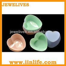 Heart shape mini cakes silicone bakeware