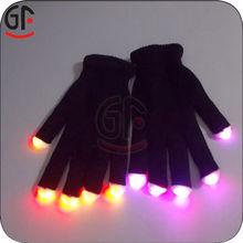 Alibaba Express Wholesale Branded Promotion Velvet Gloves Black