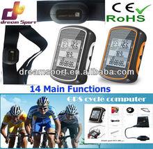 2013 hot selling pro cycle computer waterproof wireless bike computer speedometer with watt meter