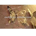 decorativos de la mariposa de metal decoración de la pared al por mayor
