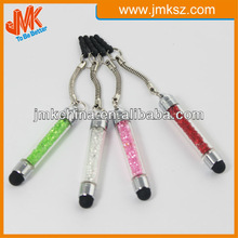 Universal crystal bling touch stylus pen with earphone plug for all touch screen devices