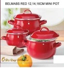 Belmab Solid Color Enamel Cookware