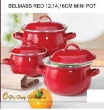 Belmab Solid Color Enamel Cookware