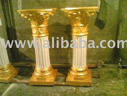 Fibreglass pillar mandap