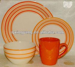 PASS FDA BV TEST different colours ceramic stoneware dinnerware set with dots design, ceramic stoneware tableware , dinner set