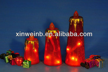 Tapered resin candle christmas decoration light