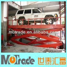 hydraulic mechanical scissor elevator car