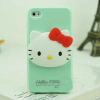 Mint PC hard case back cover 3d rotate hello kitty case for iphone 5 plastic hard case