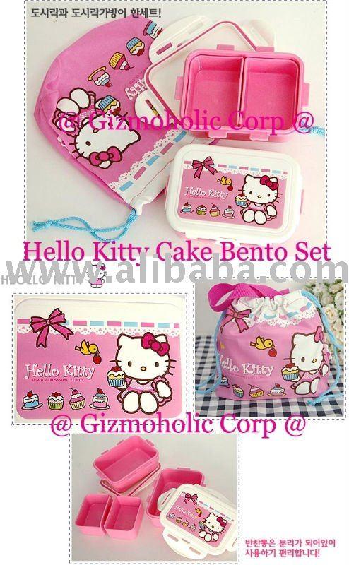 Sanrio Hello Kitty Logo. Sanrio Hello Kitty Cake Bento