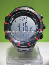 Custom design unique sport 5atm waterproof best outdoor watch 2013