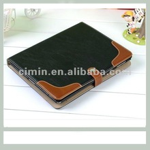 Black Leather Ultra Slim Protector Snap-on Hard Back Cover Case for iPad 2 3 4