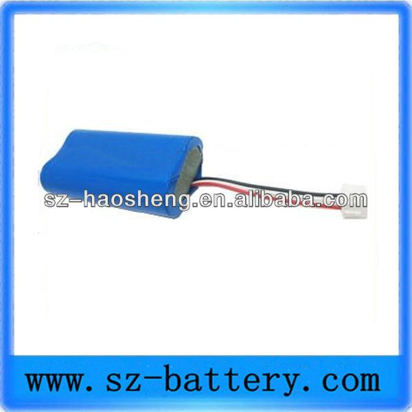 2600 mAh 7.4 voltluk lityum iyon pil 18650 Oyuncaklar için