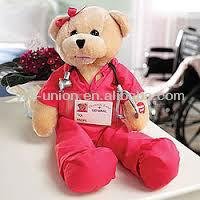 25cm Pink Suit Nurse Toy Bear/Promotion Plush Stuffed Teddy Bear