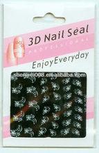 white windy flower nail sticker maker