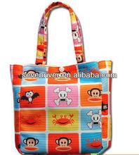 Fashion style hot sale women canvas handbags/handy bags/shoulder bags