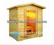 Exterior del infrarrojo lejano sauna de madera cabaña de madera de madera de pino ( KD-5002H )