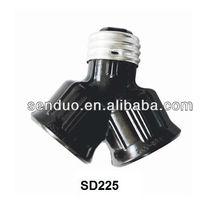 Bakelite Double Lamp holder E27 SD225