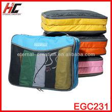 Wholesale Good Price Korean Style Multi-Functional Nylon Travelling Organizer Bag Set With 3pcs Different Size