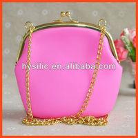 Hobo Style Silicone Women Handbag,Silicone + Metal Combo Lady Handbag,Top Selling In USA