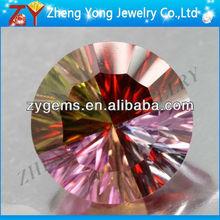 concave cut cz gems for synthetic multicolor/garnet/peridot/laverder/pink