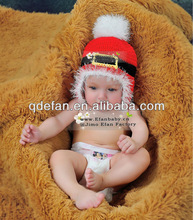 NWT SANTA CLAUS CROCHET ANIMAL HAT..Photo prop, winter wear infant toddler