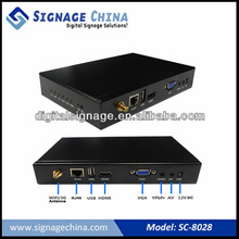 High Definition 1080P Wireless 3G Digital Signage Networked Media Player Box CE RoHS Apporved
