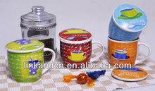 stoneware tea set with handpainting