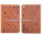 High class beauty leather case for ipad mini