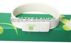 Promotional gift bracelet wristband usb drive usb flash drive speed test