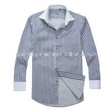 Men's herringbone striped french cuff dress shirt
