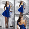 2013 New Design A-line Sweetheart Knee Lenth Tulle One Shoulder Cocktail Dresses