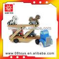 reboque de madeira do brinquedo do caminhão