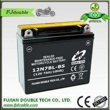 double tech 12N7BL-BS best motorcycle battery brand