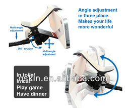 Universal support mobile phone with desk clip